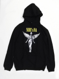 "NIRVANA ""IN UTERO"" Sweat Hoodie-BLACK-"