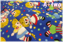 Washington Street Studio HOLLY'S DOLLIES ドール大 ブルー 00605-DB (約110cm幅×50cm)