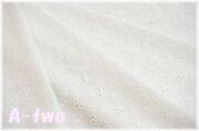 ローンレース フラワー DeS2 ホワイト (約130cm幅×50cm)