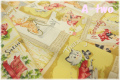 YUWA Weekly アイボリー 116333-A (約110cm幅×50cm)