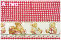 DAISY KINGDOM Cherished Teddies Strawberry Lane Border 1340 (約110cm幅×50cm)