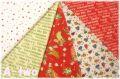 【数量限定・デッドストック】 クリスマス ネル生地 クォーターカット5枚セット (1枚の大きさ約50cm×55cm)