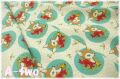 moda DEER CHRISTMAS Deer 大 生成り×ミント 31161-21 (約110cm幅×50cm)