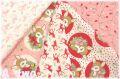 【数量限定】 クリスマス クォーターカット5枚セット ピンク (1枚の大きさ約50cm×55cm)