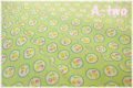 LECIEN 30's 8 スカラップチェリー グリーン 31525-61 (約110cm幅×50cm)