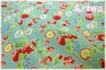 LECIEN Orchard Kitchen フルーツ ターコイズ 31737-60 (約110cm幅×50cm)