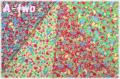 LECIEN Orchard Kitchen フルーツミニ ミニカット4枚セット 31738 (1枚の大きさ約33cm×36cm)