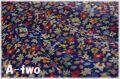 【少々難あり50%OFF】 YUWA ローン フラワー ネイビー 356041 (約110cm幅×50cm) 【ポイント還元対象外】