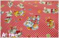 Merry Bon Bon 40404-30 チェック レッド (約110cm幅×50cm)