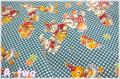 Merry Bon Bon 40404-70 チェック ブルー (約110cm幅×50cm)