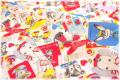 Hallmark Cards アニマル 生成り×カラフル 40554-10 (約110cm幅×50cm)