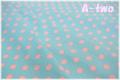 LECIEN ドット大 ブルー×ピンク 4524-LP (約110cm幅×50cm)