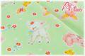 LECIEN Hello Baby フラワー グリーン 49265-60 (約110cm幅×50cm)