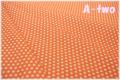 YUWA ミニドット オレンジ×生成り 806686-E (約110cm幅×50cm)