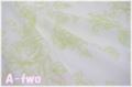 YUWA エレガントフラワー 生成り×グリーン 812952-A (約110cm幅×50cm)