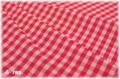 YUWA チェック ピンク×レッド (約110cm幅×50cm)