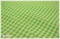 YUWA チェック グリーン×グリーン (約110cm幅×50cm)