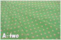 YUWA ドット グリーン×ピンク 816819-25 (約110cm幅×50cm)