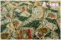 YUWA クリスマスカード グリーン 825128-A (約110cm幅×50cm)