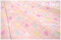 ダブルガーゼ マルチドット大 ピンク 83001-2-12 (約110cm幅×50cm) 【おひとり様1mまで】