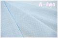 ダブルガーゼ ピンドット サックス 88182-1-4 (約110cm幅×50cm) 【おひとり様1mまで】