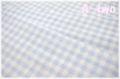 ダブルガーゼ チェック ブルー 88182-3-6 (約110cm幅×50cm)