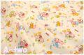 cosmo textile レトロアニマル キャンディ 生成り AP05408-1A (約110cm幅×50cm)