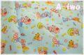 cosmo textile レトロアニマル キャンディ ブルー AP05408-1C (約110cm幅×50cm)