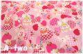 cosmo textile レトロアニマル ハート ピンク AP05408-2-B (約110cm幅×50cm)