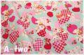 cosmo textile レトロアニマル ハート ミント AP05408-2-C (約110cm幅×50cm)