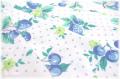 アンティークフルーツ 生成り×ブルー (約110cm幅×50cm)