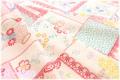 ステッチコラージュ 生成り×カラフル (約110cm幅×50cm)