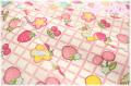 フルーツワッペン 生成×ピンク AT116563-B (約110cm幅×50cm)