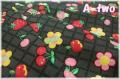 フルーツワッペン ブラック AT116563-E (約110cm幅×50cm)