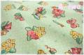 フラワーワッペン エメラルドグリーン AT116564-B (約110cm幅×50cm)