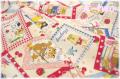 Sweet Animal Card 生成×カラフル AT116565-A (約110cm幅×50cm)