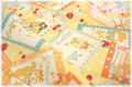 Sweet Animal Card イエロー AT116565-E (約110cm幅×50cm)