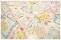 Sweet Animal Card 生成×パステル AT116565-F (約110cm幅×50cm)