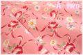 レトロフラワー ピンク AT116570-A (約110cm幅×50cm)