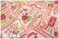 フルーツラベル 【オックス】 ピンク AT156171-B (約110cm幅×50cm)