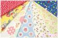 【数量限定・デッドストック】 松山敦子オリジナルプリント クォーターカット7枚セットA (1枚の大きさ約50cm×55cm)