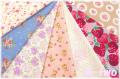 【数量限定・デッドストック】 松山敦子オリジナルプリント クォーターカット7枚セットB (1枚の大きさ約50cm×55cm)