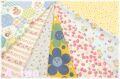 【数量限定・デッドストック】 松山敦子オリジナルプリント クォーターカット7枚セット (1枚の大きさ約50cm×55cm)