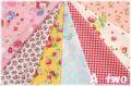 【数量限定・デッドストック】 松山敦子オリジナルプリント クォーターカット7枚セット-A (1枚の大きさ約50cm×55cm)