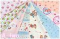 【数量限定・デッドストック】 松山敦子オリジナルプリント クォーターカット8枚セットB (1枚の大きさ約50cm×55cm)