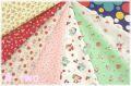 【数量限定・デッドストック】 松山敦子オリジナルプリント クォーターカット8枚セットA (1枚の大きさ約50cm×55cm)