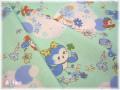 花とことり ブルー (約110cm幅×50cm)