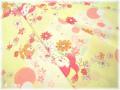 花とことり イエロー (約110cm幅×50cm)