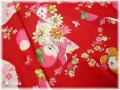 花とことり レッド (約110cm幅×50cm)