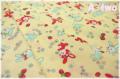 フラワー&ラビット イエロー ♪A-two オリジナルカラー♪ (約110cm幅×50cm)